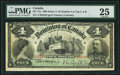 Canadian Currency, DC-17a $4 2.1.1902 PMG Very Fine 25.. ...