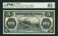 Canadian Currency, DC-21c $5 1.5.1912 PMG Gem Uncirculated 65 EPQ.. ...