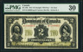 Canadian Currency, DC-22b $2 2.1.1914 PMG Very Fine 30.. ...
