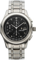 Timepieces:Wristwatch, Concord, Ventu Automatic Chronograph, Stainless Steel, Ref. 14.A7.1891, Circa 2005. ...