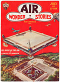 Pulps:Science Fiction, Air Wonder Stories #1929-07 (Stellar Publishing, 1929) Condition: FN....