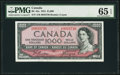 Canadian Currency, BC-44a $1000 1954 PMG Gem Uncirculated 65 EPQ.. ...