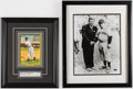 Autographs:Photos, Yogi Berra & Cool Papa Bell Signed Framed Image Lot of 2....