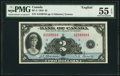 Canadian Currency, BC-3 $2 1935 PMG About Uncirculated 55 EPQ.. ...