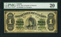 Canadian Currency, DC-8a $1 1.6.1878 PMG Very Fine 20.. ...