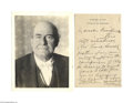 Autographs:U.S. Presidents, Secretary of State William Jennings Bryan Writes to PresidentWilson... with Reference to his 1896 Running-mate...
