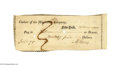 Autographs:Statesmen, Aaron Burr Signed Check, 1800...