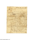 "Autographs:Statesmen, Aaron Burr Autograph Letter Signed Written on Board a Steamboat in1814 Regarding Land Claims Dating to 1763, ""...it is of great..."