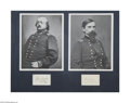 Autographs:Military Figures, Civil War: Benjamin Butler and Lew Wallace Signatures...