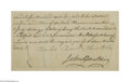 Autographs:Statesmen, Charles Carroll of Carrollton, Signer of the Constitution...