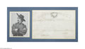 Autographs:Military Figures, Seventh Cavalry 1871 Appointment with Portrait of Custer...