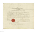 Autographs:Military Figures, Jefferson Davis Signed Confederate States Navy Document...