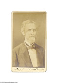 Autographs:Statesmen, Jefferson Davis Signed Carte de Visite...