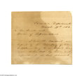 "Autographs:Statesmen, Extremely Rare Civil War Dated Jefferson Davis Letter Signed ""tothe Senate and House of Representatives...""..."