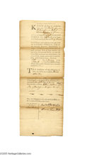 Military & Patriotic:Revolutionary War, A 1776 Partially Printed Document from the Press of John Dunlap,Printer of the Declaration of Independence...