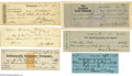 Autographs:Statesmen, First Ladies, Vice Presidents and Other Politicians Signed CheckGroup...