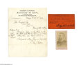 Autographs:Celebrities, Rare Grouping for Charles Guiteau, President James Garfield'sAssassin...