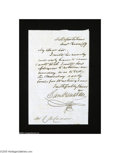 Autographs:Statesmen, Sam Houston Letter as Governor of Texas, 1859...