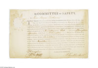 """Benjamin Franklin Signed Appointment, 1775 An unusual partly-printed document signed, """"B Franklin President,""""..."""