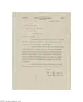 Autographs:Military Figures, William C. Gorgas Typed Letter Signed...