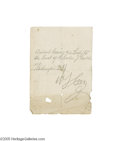Autographs:Celebrities, Charles Guiteau Signature and Pass to His Murder Trial...