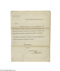 Autographs:Statesmen, Alexander Hamilton 1793 Treasury Department Circular Signed...