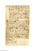 Autographs:Statesmen, Patrick Henry Manuscript Document in His Hand and Signed FiveTimes, 1794...
