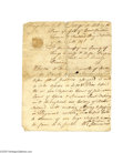 Autographs:Statesmen, Stephen Hopkins Orders the Arrest of a Counterfeiter, 1770...