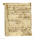 Autographs:Statesmen, Sam Houston 1848 Autograph Letter Signed as Texas Senator...