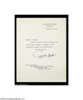 Autographs:Statesmen, Cordell Hull, Secretary of State Under Franklin D. Roosevelt...