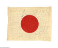 Autographs:Non-American, Remarkable Japanese Flag Autographed by Twenty-four Accused WorldWar II Criminals Including Prime Minister Tojo...