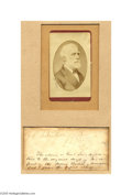 Autographs:Military Figures, Lovely Carte-de-Visite and Robert E. Lee Signature from theOriginal Draft of his Famous Report of the Second Battle ofManassas...