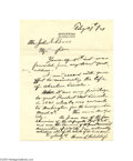 Autographs:Military Figures, First Hand Account of Meeting with President Elect Abraham Lincoln in 1861...