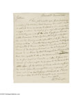 Autographs:Statesmen, Edward P. Livingston 1818 Autograph Letter Signed...