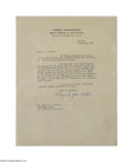 Autographs:Military Figures, Douglas MacArthur Letter on the Loss of a Soldier at Corregidor...