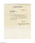 Autographs:Military Figures, Douglas MacArthur 1945 Typed Letter Signed...