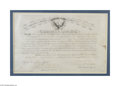 Autographs:Military Figures, Nelson A. Miles Signed Military Appointment...