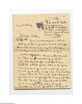 Autographs:Military Figures, George S. Patton, Jr. Three Page Letter to His Sister...