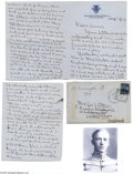Autographs:Military Figures, George S. Patton Excellent 1904 Letter from West Point...