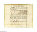 Autographs:Statesmen, Edward Rutledge, Signer of the Declaration of Independence...