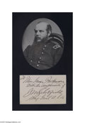 Autographs:Military Figures, John M. Schofield, Union General...