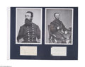 Autographs:Military Figures, Civil War: David D. Porter and William T. Sherman...