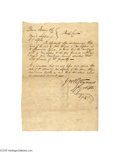 Autographs:Statesmen, Slave Document Signed by Fervent Anti-abolitionist and FutureConfederate Secretary of War, Judah P. Benjamin...