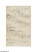 Autographs:Statesmen, Justice Roger B. Taney Autograph Document Signed...