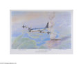Autographs:Statesmen, Enola Gay Colored Lithograph Autographed by Pilot, Navigator, andBombardier...
