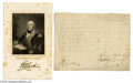 Autographs:Military Figures, Early Frontiersman George Rogers Clark Signed Document...