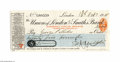 Autographs:Non-American, Ernest Shackelton Signed Check...