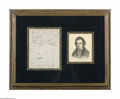 Autographs:Non-American, French Scientist André Ampere Rare Signed Letter...