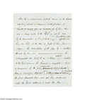 Autographs:Celebrities, Samuel Morse Two-page Autograph Document Regarding Parts for the First Telegraph...