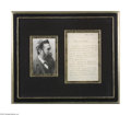 Autographs:Non-American, German Physicist Wilhelm C. Rontgen 1906 Signed Letter...
